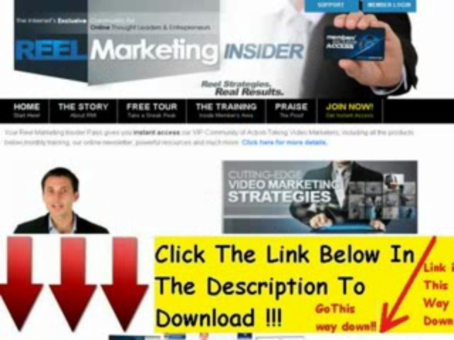 """ Reel Marketing Insider-#1 Video Marketing Training – 50% Recurring! (view mobile)  